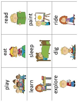All About Me Activities Vocabulary Cards - Great for ESL/ENL