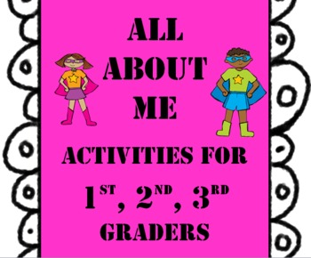 All About Me Activities for 1st, 2nd, and 3rd Graders