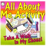 Middle School All About Me Activity - Take a Walk in my Shoes