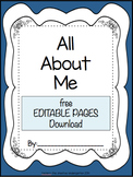 All About Me {editable pages}