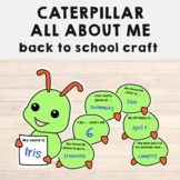 All About Me Activity Caterpillar Craft for Back to School