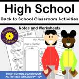 All About Me Activity: High School Edition