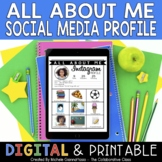 All About Me Activity - Instagram Profile Template