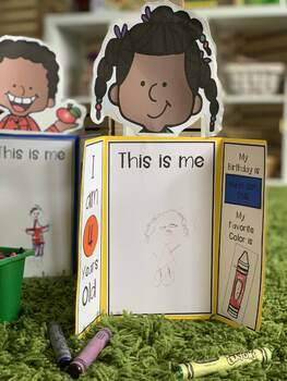 All About Me Activity - LapBook Activity for preschool, Pre-K, and Kindergarten
