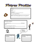All About Me Activity: Player Profile