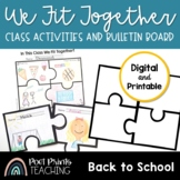 All About Me Activity, Puzzle Piece