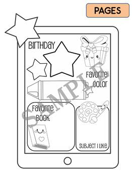 All About Me Activity : Selfie, Back to School, Student Craftivity, worksheet
