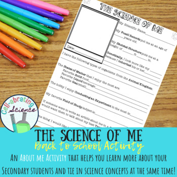 All About Me Activity - The Science of Me