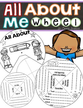 All About Me Activity Wheel Craft FREEBIE