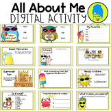 All About Me Activity for Google Slides- Back to School