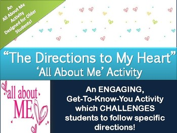 All About Me Activity for Older Students