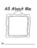 All About Me Adapted Activity Book, Back To School