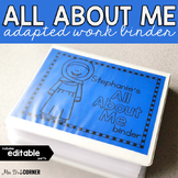 All About Me Adapted Work Binder (editable) | Personal Info Binder