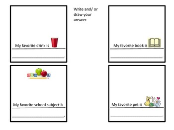 All About Me! All About Me pocket craft, writing prompts, & worksheets. EZ & FUN