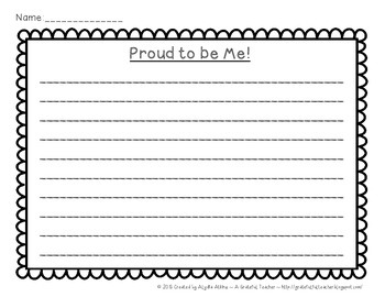 Proud to be Me! A Guided Writing and Research Project