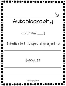 Autobiography Unit Student Books