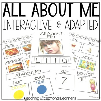 All About Me Book Designed for Special Education