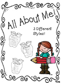 "All About Me ""Apple Theme"" Activity"