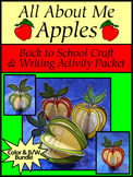 All About Me Apples Back to School Craft & Writing Activity Bundle - Color & B/W