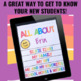 Back to School All About Me Autobiography Flip Book for Google Classroom