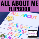 Digital All About Me Autobiography Flip Book for Back to School