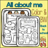 All About Me : BACK TO SCHOOL :  Icebreaker : Bulletin Boa