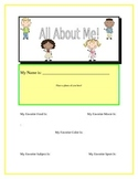 All About Me: Back To School