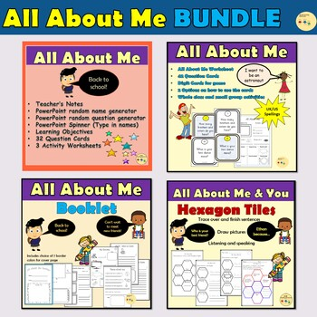 All About Me/Back To School BUNDLE
