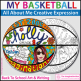 All About Me Back To School | Basketball Art and Writing Activity