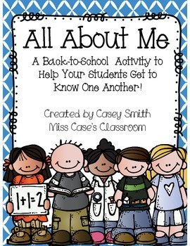 All About Me - Back To School Getting To Know You Icebreaker Activity