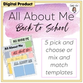 All About Me Back To School Google Slides