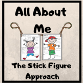 All About Me Back To School with Stick Figures