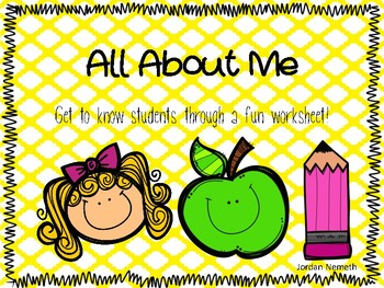 All About Me - Back to School!