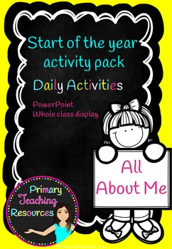 All About Me - Back to School Activities and PowerPoint