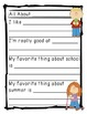 All About Me Back to School Activity