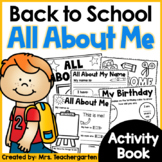 All About Me - Back to School Activity Book