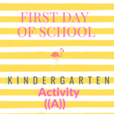 All About Me|Back to School Activity|Fun First Day of School Activity Prek TO K