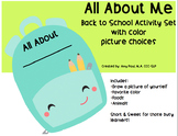 All About Me - Back to School Activity Set with Color Pict