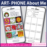 All About Me Back to School 'Art Phone' Art Writing Activity
