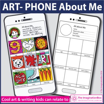 All About Me Back to School 'Art Phone' creative art and w