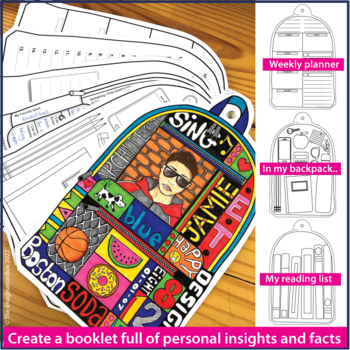 All About Me Back to School Backpack Booklet Art Activity