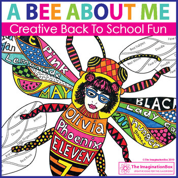 All About Me Back to School Bee Art & Decor Activity