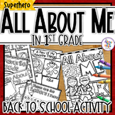 All About Me 'Superhero'  - a Back to School activity pack for 1st Grade