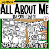 All About Me 'Superhero'  - a Back to School activity pack for 2nd Grade