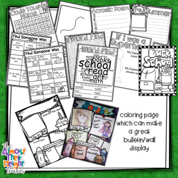 All About Me - A Superhero Themed  Back to School Activity Pack - 2nd Grade