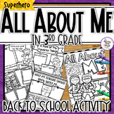 Back to School 'Superhero' All About Me Activity - 3rd Grade