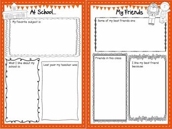All About Me - Back to School Booklet