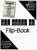 All About Me Back to School Flip-Book