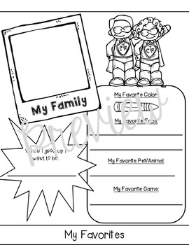 All About Me Back to School Flipbook