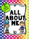 All About Me! Back to School. +Free Spanish Version!